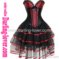Wholesale Sexy Red Lips Fashion Corset With Dress