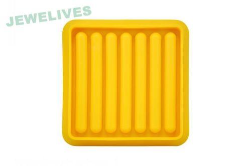 Customsize Silicone popsicle Ice Cube Tray in Lemon Yello