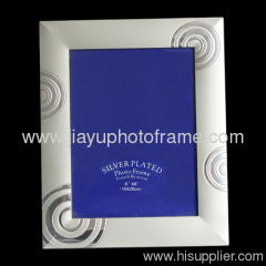 frosted silver photo frames