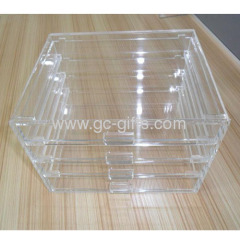 4 drawers plastic makeup box organizer