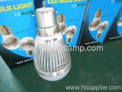 12V 3W aluminum solar LED bulb