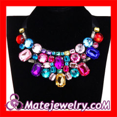 Big Colorful Gemstone Collar Necklace