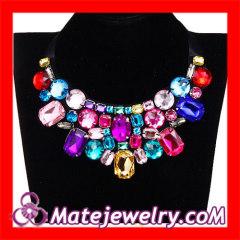 Big Colorful Gemstone Collar Necklace