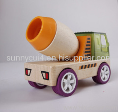 construction work-cement truck wooden toys
