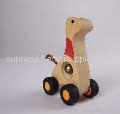 animal bell car-giraffe wooden children toys gifts