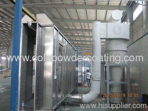 automatic powder spray booth