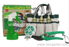 garden tools set with garden bag for worked in the garden.