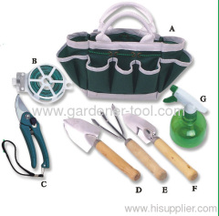 garden bag with garden tools