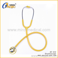 Deluxe Zinc alloy adult dual Head Stethoscope with Non-Chill Ring