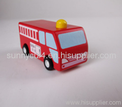 pull-back motor - fire engine wooden toys