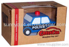 pull-back motor(police car) wooden toys model
