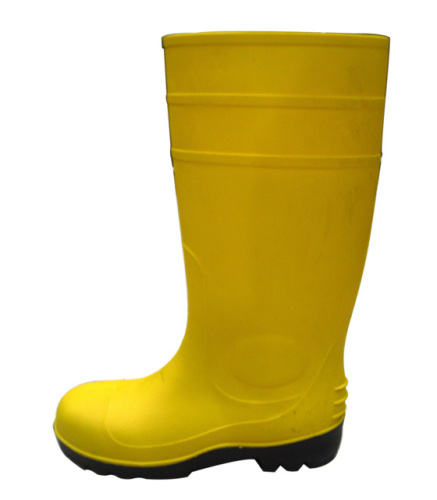Yellow PVC working boots