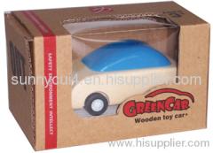pull-back motor wooden toys model baby toys