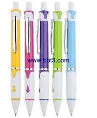 Promotional ballpen with raindrop and metal clip