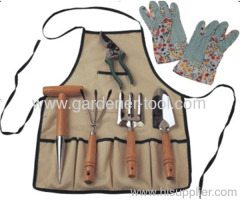 Garden Handle Tools Set With clothes.