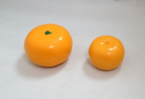 Orange shape jar face care package plastic container PP jar