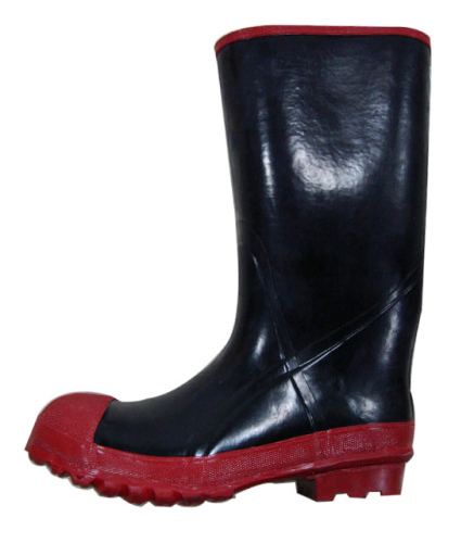 Steel toe working rubber boots for man