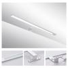Italy Modern design chrome aluminum 600mm bathroom mirror led light /12W bathroom mirror lamp CE ROHS IP44 110V/220V AC