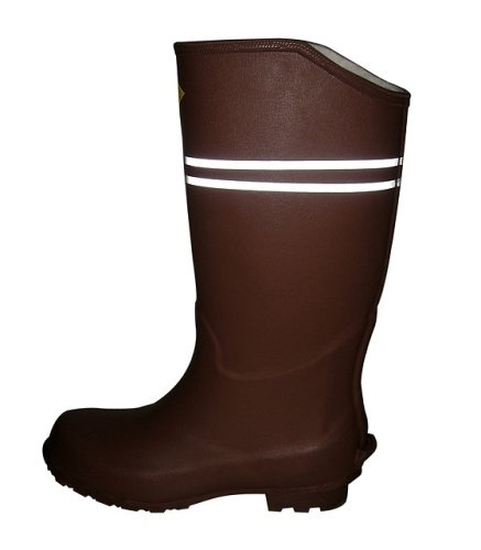 Male Work Rubber Boots With Reflective Stripe
