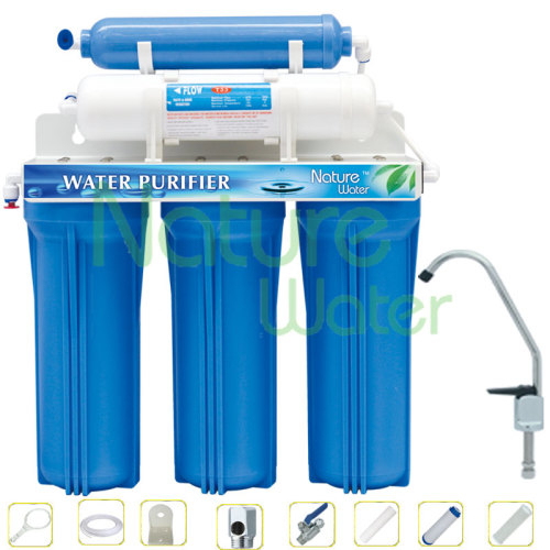 Water filter with mineral ball filter