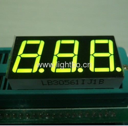 Ultra bright blue 3 digit common cathode 0.567 segment led display for digital indicator