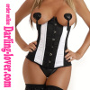 White & Black New Design Underbust Corset
