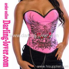 Wholesale Sexy Pink Migic Print Corset