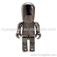 Novelty Robot shaped usb flash drive with 16GB REAL capacity