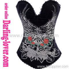 Sexy Black Four Flower Corset