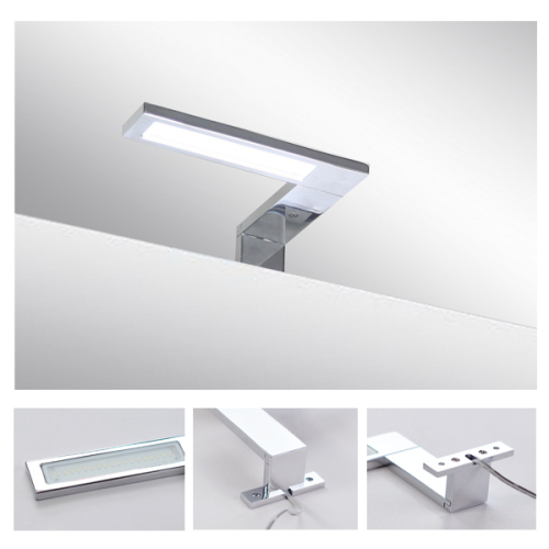 Italy Modern design chrome aluminum 155mm bathroom mirror led ...