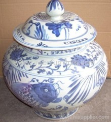 China ceramic Jar blue and white