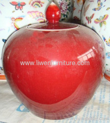 Antique Pottery red vase