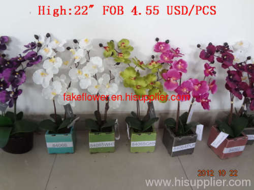 artificial flower in pot/artificial flower bonsai