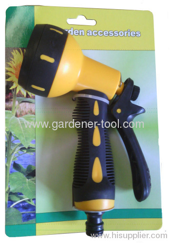 7-function plastic trigger nozzle for water wash
