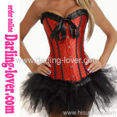 Sexy Red Dot Fashion Corset With Dress