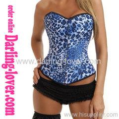 Sexy Blue Leopard Fashion Corset