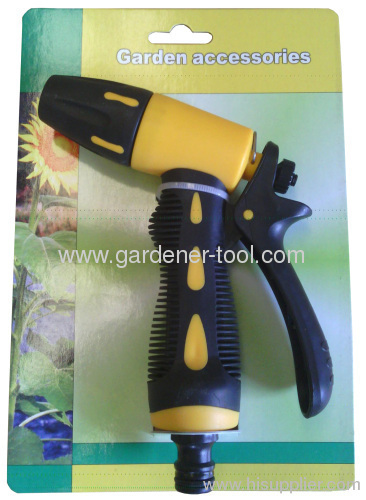 Plastic garden trigger spray nozzle with soft grip