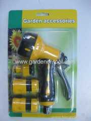 Platic garden trigger nozzle with hose connector
