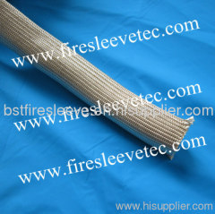 Heat treated fiberglass braided sleeve