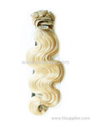 Brazilian remy hair extension chip in