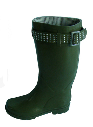 Beading Decorated Rubber Boots