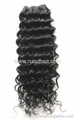 Chinese virgin hair black manchine hair weft