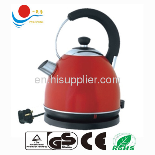 stainless steel kettle with spray red colr CE ROHS GS