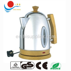 Cordless stainless steel electric kettle 1800W with CE ROH