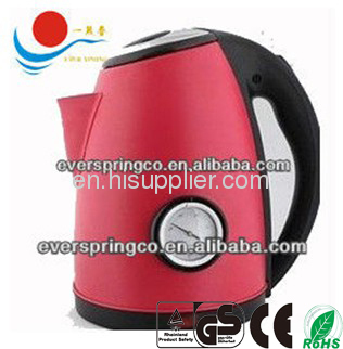 stainless steel kettle 1.8L with thermometer