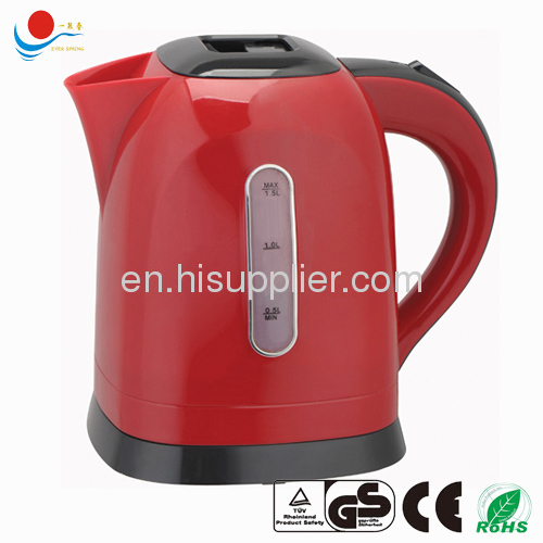cordless electric plastic kettle 1.5L with GS CE ROHS