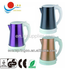 hotel electric kettle 1.7L with ce rohs