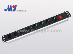 8 ways German PDU socket with switch
