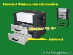 Double-deck 3D heat transfer machine