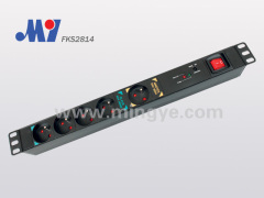 5 ways switch French PDU socket